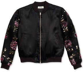 Jessica Simpson Embroidered Bomber Jacket, Big Girls (7-16)
