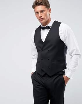 Farah Smart Skinny Tuxedo Double Breasted Vest