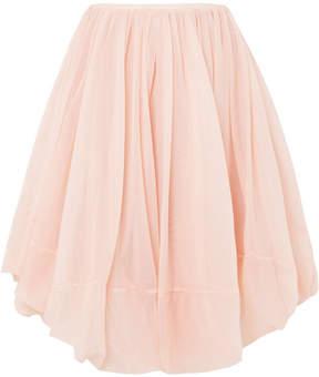 Jil Sander Gathered Tulle Skirt - Pink