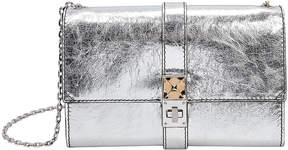 Proenza Schouler PS11 Silver Leather Clutch Chain Bag