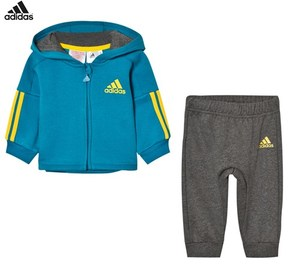 adidas Teal and Grey Infants Tracksuit