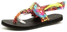Rampage Womens Jojo Fabric Open Toe Casual Slingback Sandals.