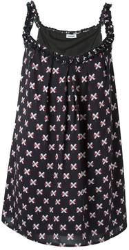 Au Jour Le Jour cross print dress