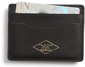 Rag & Bone Men's Leather Card Case - Black