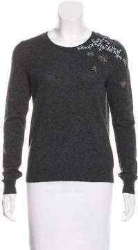 White + Warren Embroidered Cashmere Sweater w/ Tags