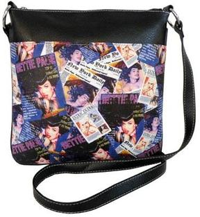 Women's Bettie Page Collage Messenger Bag BPG1081
