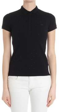Sun 68 Women's Black Cotton Polo Shirt.