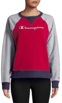 Champion Colorblocked Raglan-Sleeve Sweatshirt