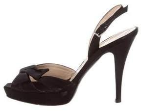 Alberta Ferretti Satin Platform Sandals