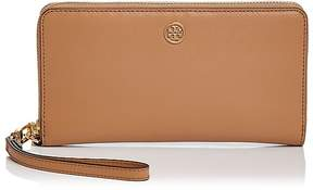 Tory Burch Parker Zip Leather Continental Wallet - BLACK/GOLD - STYLE