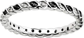 Black Diamond FINE JEWELRY Personally Stackable 1/7 CTW White & Color-Enhanced Twist Ring