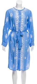 Melissa Odabash Embroidered Midi Dress