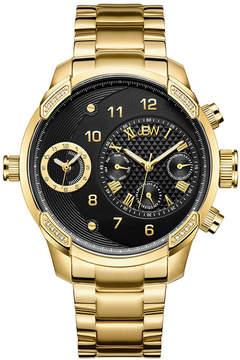 JBW G3 18k Gold-Plated 0.16 C.T.W Diamond Mens Gold Tone Bracelet Watch-J6344b