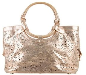 Jimmy Choo Metallic Perforated Star Bag