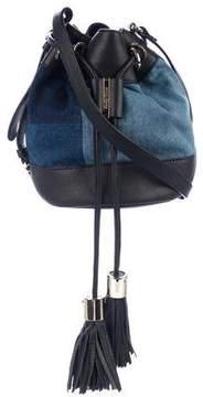 See by Chloe Leather-Trimmed Denim Bucket Bag