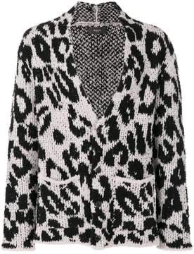 Amiri leopard intarsia cardigan