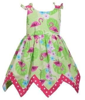 Iris & Ivy Baby Girl's Flamingo Hanki Hem Sundress