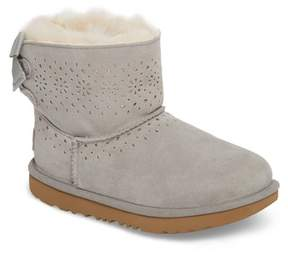 UGG Dae Perforated Genuine Shearling Tie Back Boot (Toddler & Little Kid)