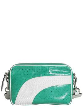 RED Valentino Crackle Leather Camera Bag