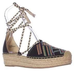 Nanette Lepore Nanette Bitsy1 Espadrille Wedge Lace Up Sandals