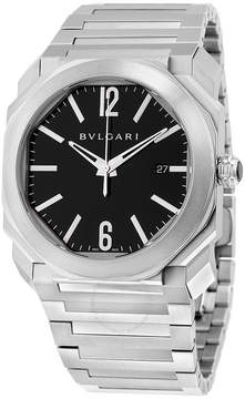 Bvlgari Octo Solotempo Automatic Black Dial Stainless Steel Men's Watch