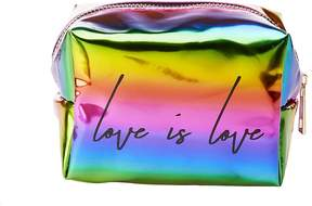 Charlotte Russe Love is Love Faux Leather Makeup Bag