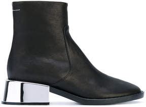 MM6 MAISON MARGIELA metallic heel beatle boots