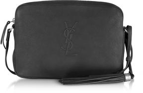 Saint Laurent Small Lou Black Leather Camera Bag - BLACK - STYLE