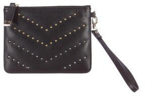 Stuart Weitzman Leather Wristlet Clutch