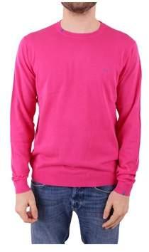 Sun 68 Men's Fuchsia Cotton Sweater.