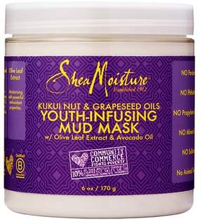 SheaMoisture® Kukui Nut & Grapeseed Oil Youth-Infusing Mud Mask - Olive leaf Extract & Avocado Oil - 6oz