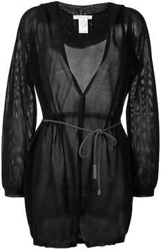 Fabiana Filippi belted hooded cardigan