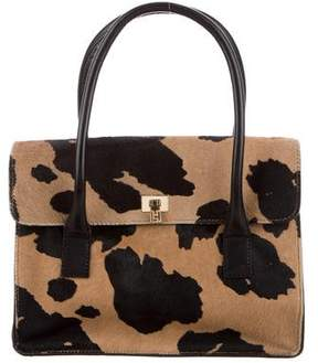 Lambertson Truex Leather-Trimmed Ponyhair Tote
