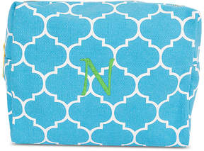 Cathy's Concepts Personalized Light Blue Moroccan Lattice Cosmetic Bag