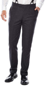Asstd National Brand WD.NY Charcoal Twill Flat-Front Suit Pants - Slim Fit