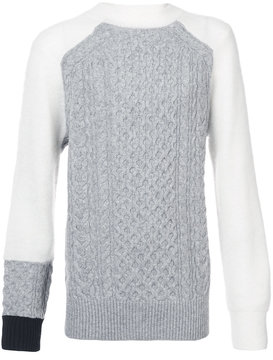 Sacai chunky fisherman sweater