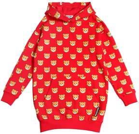 Moschino Bear Printed Cotton Sweatshirt Dress