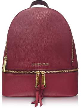 Michael Kors Rhea Zip Medium Mulberry Leather Backpack - PURPLE - STYLE