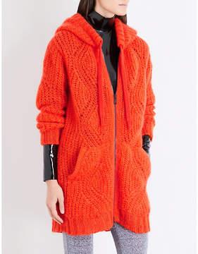 A.F.Vandevorst Zip-up chunky-knit mohair-blend hoody