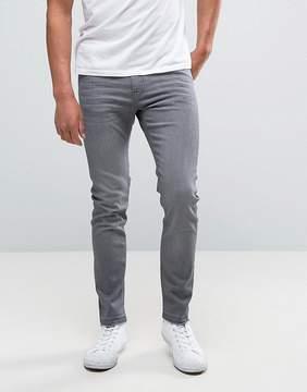 Lee Malone Super Skinny Jeans Authentic Gray Wash Raw Hem