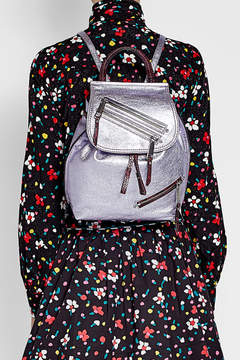 Marc Jacobs Metallic Leather Backpack - MAUVE - STYLE