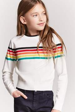 Forever 21 Girls Stripe Sweater-Knit Top (Kids)