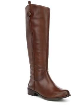 Gianni Bini Jayceson Wide Shaft Leather Block Heel Riding Boots