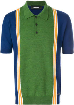 DSQUARED2 colour block polo shirt