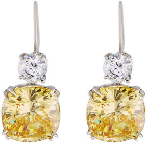 FANTASIA Round & Cushion-Cut Crystal Double-Drop Earrings