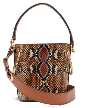 Chloé Roy Python Print Mini Leather Bucket Bag - Womens - Multi