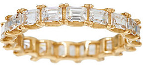 Diamonique As Is Baguette Eternity Band Ring, 14K Gold