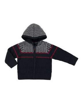 Mayoral Knit Zip-Up Jacket, Size 3-7