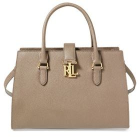 Lauren Ralph Lauren Falcon Leather Satchel Bag