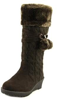 MICHAEL Michael Kors Kendall Update Youth Round Toe Canvas Brown Knee High Boot.
